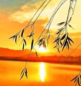 日落佛山照美湖
