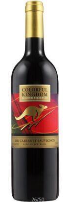 澳洲原瓶进口七彩袋鼠干红葡萄酒