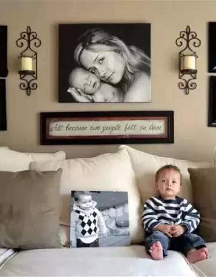 在小户型里做上一面照片墙,让你家美出新高度