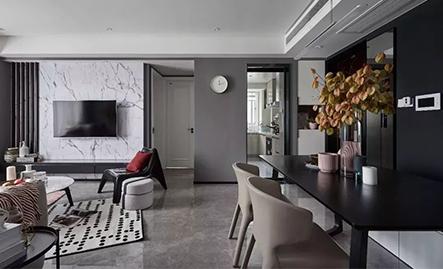 经典案例:125m2三居室后现代风格,让人欲罢不能的轻奢风,还不点进来看看!!