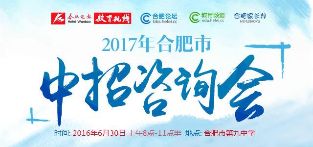 """2017合肥""""中招咨询会"""""""