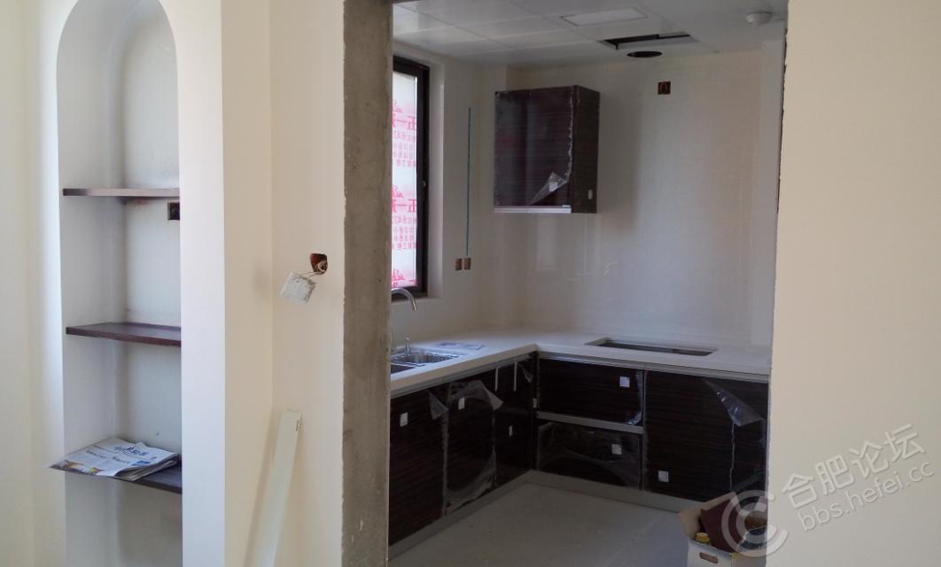 北阳台+厨房,橱柜已安装