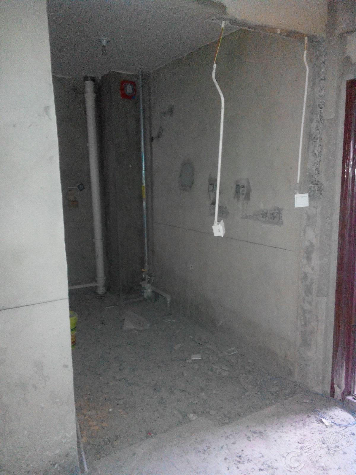 厨房的墙被打掉了