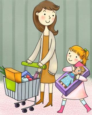 逛超市也是教育孩子的好机会